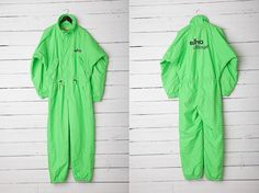 1980s A Bright Green Skirwear Onepiece Snow Suit by CoverVintage, $50.00