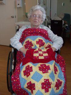 My Grandmother loves her Lovie Lap Quilt! http://www.homesewnbycarolyn.com