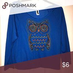Owl Top Plus size shirt Tops