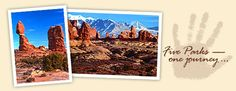 """Arches National Park - one of the five """"must see"""" Utah National Parks."""
