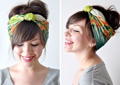 Three Ways to Wear a Hair Scarf