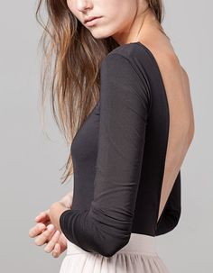 At Stradivarius you'll find 1 Bodysuit with ballerina back for woman for just 1590 Serbia . Visit now to discover this and more BODIES.