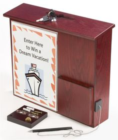 Amazon.com : Wood Wall-Mounting Suggestion Box, Ballot Box with Locking Lid, Pocket, Sign Holder and Pen - Red Mahogany : Mountable Suggestion Box : Office Products