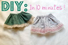 DIY Baby & Toddler Skirt Tutorial-I tried this today and I'm a super-beginner sewer. It's SEW easy :)