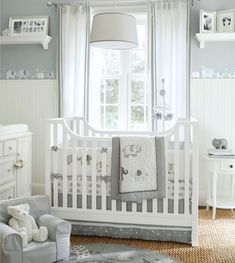 How to Design a Gender-Neutral Nursery | Pottery Barn Kids - elephant theme