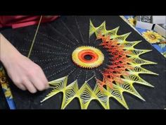 String Art ou art de la ficelle - Time lapse - YouTube