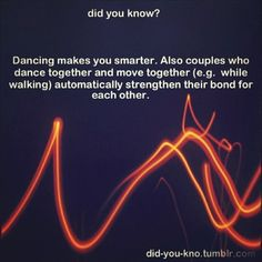 Movement. This is so true!!! Nothing like dancin in the kitchen with my JB!!