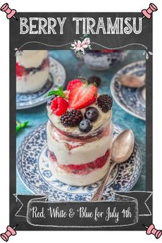 A summery twist on the classic tiramisù, this Berry Tiramisu (Tiramisù ai Frutti di Bosco) is fresh, beautiful and a great summer send-off. Spiked with Limoncello for a bright, citrus scent, but easily customizable to a non-alcoholic version. This easy tiramisu recipe is perfect for all summer celebrations, July 4th and Memorial Day. It's even patriotic red, white, and blue! #tiramisu #dessert Party Desserts, Holiday Desserts, No Bake Desserts, Dessert Recipes, Easy Tiramisu Recipe, Something Sweet, Healthy Desserts, Sweet Tooth, Berries