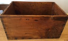 Antique Handmade Wooden Box Crate with Finger Joints #Handmade
