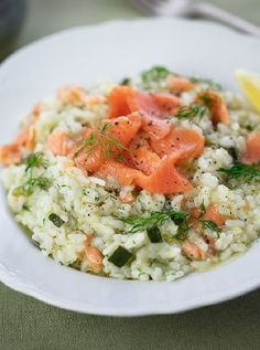 Low FODMAP and Gluten Free Recipe - Salmon & herb risotto   http://www.ibssano.com/low_fodmap_recipe_salmon_herb_risotto.html