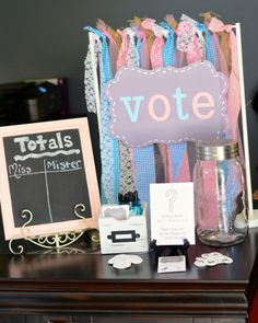 What a cute and unique theme for a gender reveal party! The mom-to-be was a long-time ballerina an...