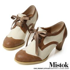 FFeFF New Women's Shoes Brown Ivories Oxfords 2 4 inch Heels Pumps 14501★★★   eBay