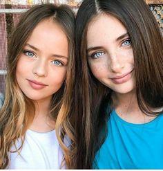 Lilly Kruk and Kristina Pimenova Very Pretty Girl, Beautiful Little Girls, Most Beautiful Faces, Gorgeous Eyes, Pretty Eyes, Beautiful Children, Cute Girls, Beautiful People, Beautiful Women