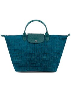 Longchamp 'Le Pliage' Medium Croco-Print Tote Weekender, Hand Bags, Longchamp, How To Look Pretty, Purses And Bags, Exotic, Product Launch, Boutique, Tote Bag