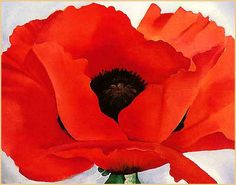 Large Red Poppy Paintings | My Painting Room: I love Georgia O'Keeffe | We Heart It