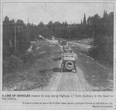 Old Soo Road from Sudbury (Highway Sault Ste Marie Ontario, Sudbury Canada, Manitoulin Island, Travel English, Pearl Harbor, Motor Boats, Back In The Day, Trains, Parents