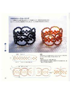 DIY: Romantic ring tutorial/ Tutorial anillo (No hace falta leer, basta con que vean el diagrama, es muy sencillo)