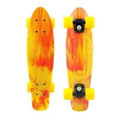 Penny Marble Yellow/Black/Yellow LTD Mini Longboard Complete Skateboard Online, Skateboard Photos, Board Skateboard, Penny Skateboard, Skateboard Design, Complete Skateboards, Cool Skateboards, Cruiser Skateboards, Nickel Board