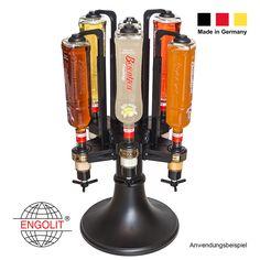 6er Bar Butler in Profi-Qualität made in Germany. Hier wackelt nichts. Standfest - übersteht die wildeste Party. Dreh-Element ist metall-verstärkt. Bar selber bauen? Dieser Bar Butler muss mit. #getränkespender #zapfanlage #whisky #spender #alkoholspender  #flaschenhalter #schnapsspender