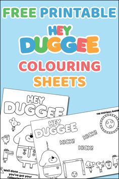 Hey Duggee Colouring Sheets - Free Printable - CBeebies - including World Cup / Football sheet! Superhero Party Games, 1st Birthday Party Games, Halloween Party Games, Birthday Diy, Birthday Ideas, Birthday Stuff, Dinner Party Games, Family Party Games, Diy Party Crafts