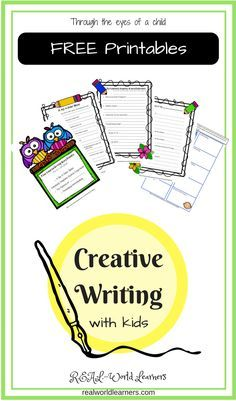 Storytelling prompts and templates with examples; includes 4 free printable story forms to help encourage young children develop creative thinking skills. #storytelling #freeprintables #preschool #kindergarten #firstgrade #secondgrade #creativewriting #literacy #writing #reading #learning