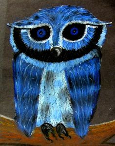 Owl in Pastels - 2006