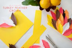 turkey feather crown