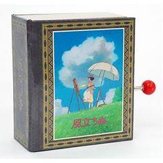 Studio Ghibli BOOK type music box KAZE TATINU -the wind rises-
