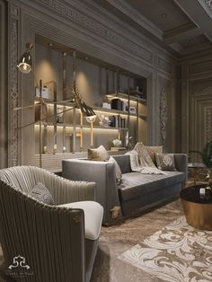 versace & cavalli style on Behance Home Room Design, Living Room Designs, Living Room Decor, House Design, Classic Interior, Luxury Interior Design, Versace Home, Luxurious Bedrooms, Luxury Living