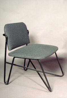 Raoul Guys; Enameled Iron Chair, c1950.