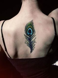 Peacock Feather Tattoos for Women