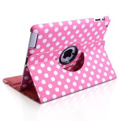 Polkadotted Pink Ipad Case