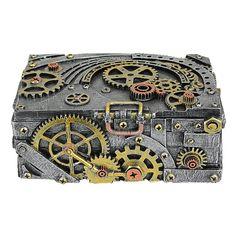 Design Toscano Steampunk Cog and Turbine Decorative Box & Reviews | Wayfair Design Steampunk, Arte Steampunk, Steampunk Book, Steampunk Halloween, Steampunk Crafts, Steampunk Heart, Steampunk Gadgets, Steampunk Costume, Gothic Steampunk