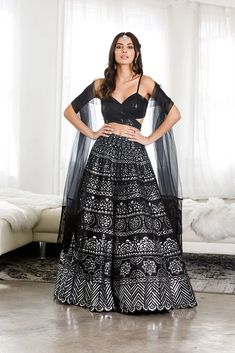 Rekha Lengha - Ready to Ship Indian Bridal Outfits, Indian Designer Outfits, Designer Dresses, Kurti Designs Party Wear, Lehenga Designs, Indian Attire, Indian Ethnic Wear, Lehnga Dress, Lehenga Skirt