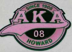 Alpha Kappa Alpha Sorority or AKA Patches Alpha Psi Omega, Alpha Kappa Alpha Sorority, Phi Theta Kappa, Delta Sigma Theta, Aka Sorority, Sorority And Fraternity, Greek Paraphernalia, Pin And Patches, Pink And Green