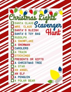 Put Christmas Carols on the radio and drive around looking at lights. Pack some hot chocolate and cookies and this Christmas Lights Scavenger Hunt and 25 Christmas Traditions to Start Right Now on Frugal Coupon Living!
