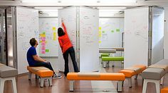 Smart paint for partition on moveable training room wall