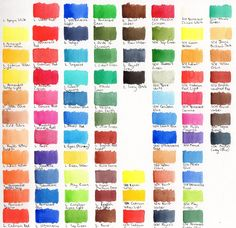 Watercolour Swatches - A Few Brands - WetCanvas: Online Living for Artists Buy All The Things, Things To Think About, Study Hard, Knowledge Is Power, Cool Paintings, Paint Cans, Selling On Ebay, Create Yourself, Swatch