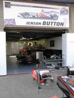 Jenson Button Garage 2010 Canadian GP Pit Lane (Photo by: Jose Romero Lopez)