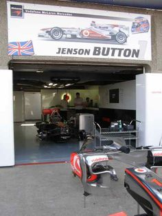 Jenson Button Garage 2010 Canadian GP Pit Lane (Photo by: Jose Romero Lopez)