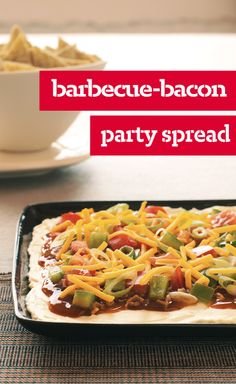 Barbecue-Bacon Party Spread — If it's possible for one amazing appetizer to get a party going, Barbecue-Bacon Party Spread is it. We're talkin' cream cheese, BBQ sauce and bacon. Yum.