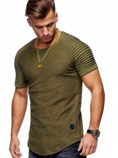 ec7fe1cdff3c Stylish Summer Solid Color Comfortable Short Sleeve T-shirt for Men - FERN  GREEN -
