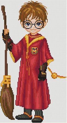 Harry Potter Quidditch Cross Stitch Pattern | eBay