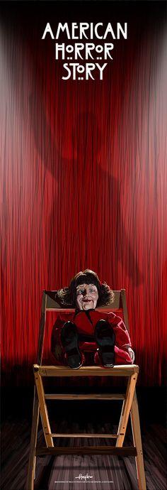 "American Horror Story - Freak Show - Scott Hopko - ''Marjorie'' ---- ""American Horror Story"" art show at Hero Complex Gallery (2015-10) #AHS"