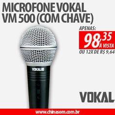 Microfone Vokal VM500 (com chave)  Compre Aqui (Clique na Imagem) #vokal #microfone #microphone #chinasom
