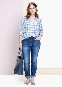 VIOLETA BY MANGO - Lightweight check blouse #SS15