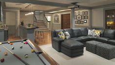 Our next home with have a huge family room with a wet bar and pool table.....Just like this!
