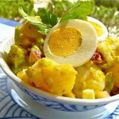 This potato salad tastes just like the stuff I grew up on.  I will definitely be making it again!