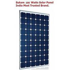 Sukam Solar Panel 100 watt - 12v - Trusted Brand in India..MNRE approved