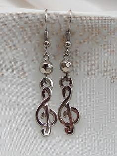 Brincos Clave de Sol - Treble Clef Earrings  - Beat Bijou | Elo7